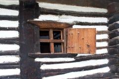Houten venster Stock Foto's