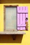 Houten venster en Thermometer Royalty-vrije Stock Afbeeldingen