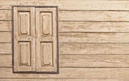 Houten venster met exemplaarruimte Royalty-vrije Stock Foto's