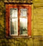 Houten venster van oud huis Royalty-vrije Stock Afbeelding