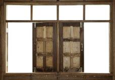 Houten vensters Stock Fotografie