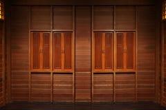 Houten vensterstextuur royalty-vrije stock afbeelding