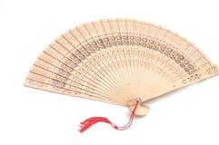 Houten ventilator met bureaucratische formaliteiten stock foto