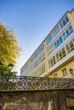 Houten verglaasde vensters in een Coruna, Galicië, Spanje Royalty-vrije Stock Fotografie