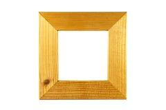 Houten vierkant kader Royalty-vrije Stock Foto's