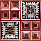 Houten vierkante textuur Stock Foto's