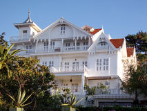 Houten villa Royalty-vrije Stock Fotografie