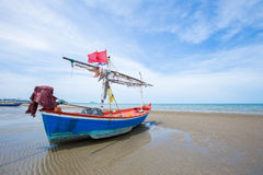Houten vissersboot Royalty-vrije Stock Foto
