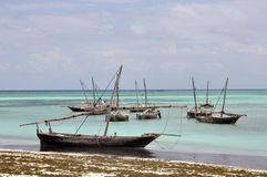 Houten vissersboten Stock Afbeeldingen