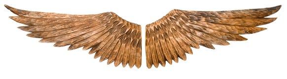 Houten vleugels. royalty-vrije stock foto