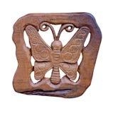 Houten Vlinder Royalty-vrije Stock Afbeeldingen