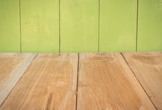 Houten vloer en muur Stock Foto