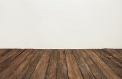 Houten vloer, oude houten plank, het bruine binnenland van de raadsruimte Stock Foto's