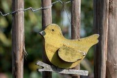 Houten vogel Stock Foto's