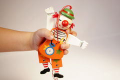 Houten vrolijke marionet Stock Foto