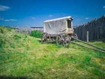 66-houten Wagen royalty-vrije stock afbeeldingen