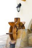 Houten watermolen Stock Afbeelding