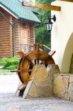 Houten watermolen Royalty-vrije Stock Afbeeldingen