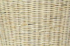 Houten weefsel van rieten mandachtergrond Royalty-vrije Stock Foto