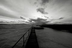 Houten wegtrog de meren royalty-vrije stock afbeeldingen
