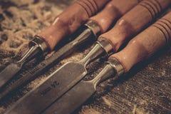Houten werk van het timmermans het houten hulpmiddel, industri?le ambacht stock foto's