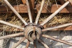 Houten wiel Stock Foto