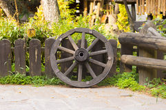 Houten wiel Stock Afbeelding