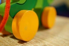Houten wielen Stock Fotografie