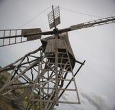 Houten windmolen Stock Afbeelding