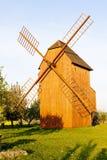 Houten windmolen Royalty-vrije Stock Afbeelding