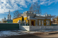 Houten woningshuis in Rusland Vologda Royalty-vrije Stock Foto