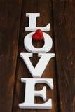 houten woordliefde Royalty-vrije Stock Fotografie