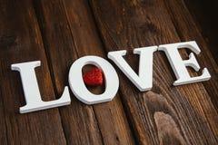 houten woordliefde Royalty-vrije Stock Foto