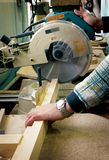Houten workshop Stock Foto