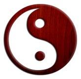 Houten Yin en Yang Royalty-vrije Stock Afbeelding