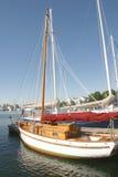 Houten Zeilboot Royalty-vrije Stock Afbeelding