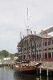 Houten zeilboot Stock Foto