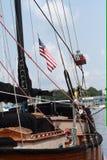 Houten zeilboot Stock Afbeelding