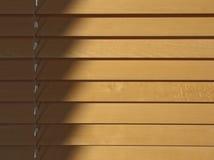 Houten zonneblinden stock afbeelding