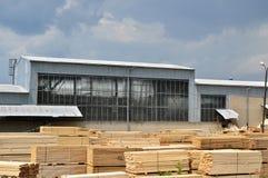 Houtfabriek Stock Afbeeldingen