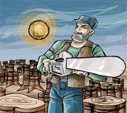 Houthakker Stock Illustratie