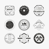 Houthakker Logos Stock Afbeelding