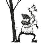 Houthakker met bijl vector illustratie