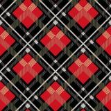 Houthakker Seamless Vector Pattern De in achtergrond van de hipsterstijl Geruit Schots wollen stof en Buffels het Patroon van de  vector illustratie