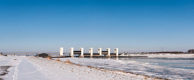 Houtribsluizen dans l'horaire d'hiver Photo stock