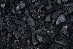 Houtskool dichte omhooggaand Achtergrond textuur de minerale brandstof van de energieenergie royalty-vrije stock fotografie
