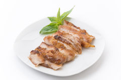 Houtskool-gekookte varkensvleeshals Royalty-vrije Stock Foto's