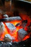 Houtskoolbrand Royalty-vrije Stock Foto