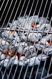 Houtskoolgrill Stock Foto's