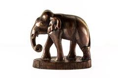 Houtsnijwerkolifant. Royalty-vrije Stock Fotografie